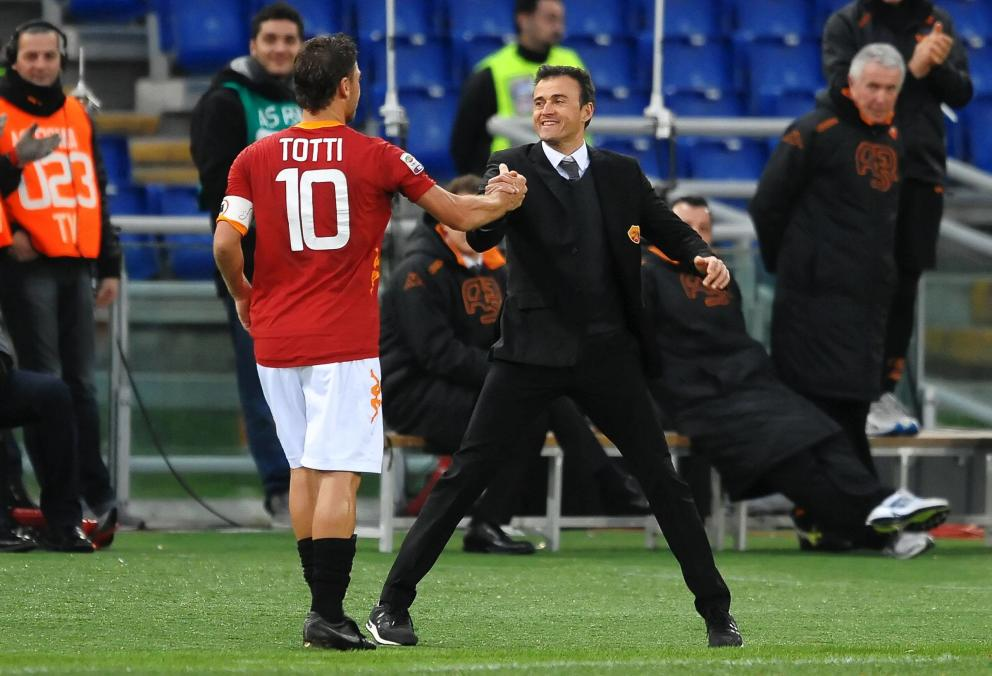 francesco totti and luis enrique